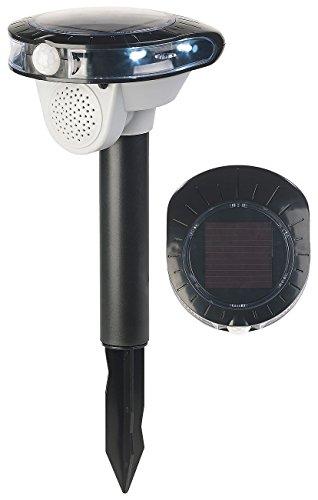 Royal Gardineer Vogelabwehr: Solar-Vogelschreck, Bewegungs-Sensor, 3 Sounds, LED-Blitzlicht, 95 dB (Taubenschreck mit Bewegungsmelder)
