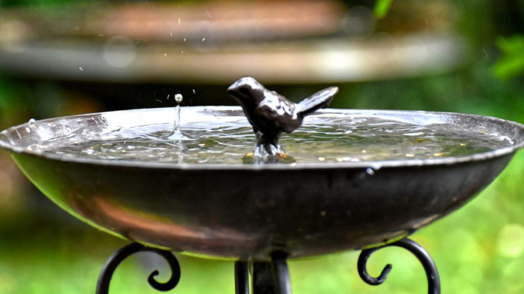 Vogeltränke aus Metall