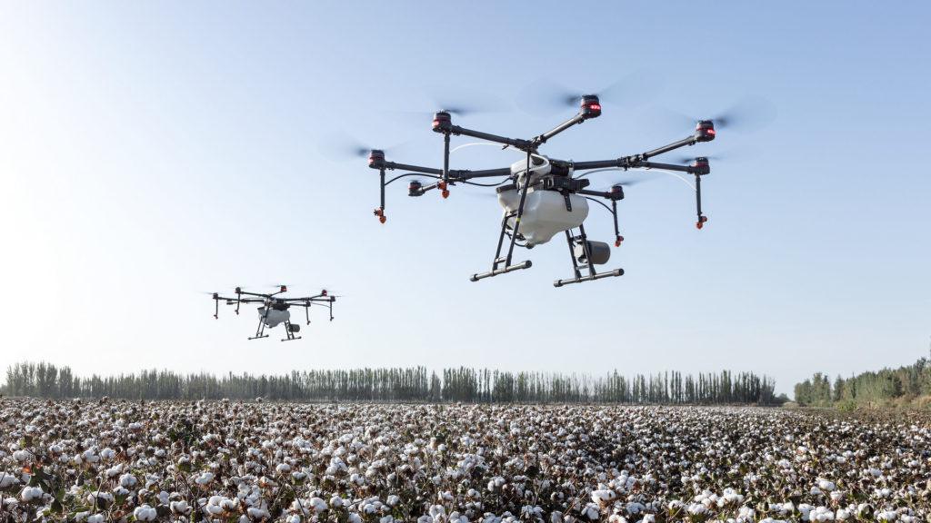 Drohnen über Feld